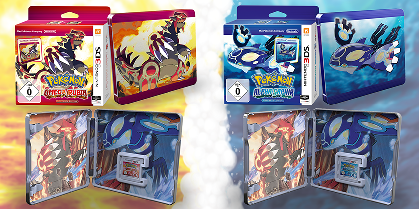 Pokémon ORAS limited SteelBook